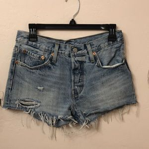 Levi's High Waisted 501 shorts